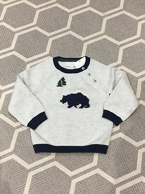 White Company Polar Bear (christmas ?) Jumper - Baby / Toddler 9-12months