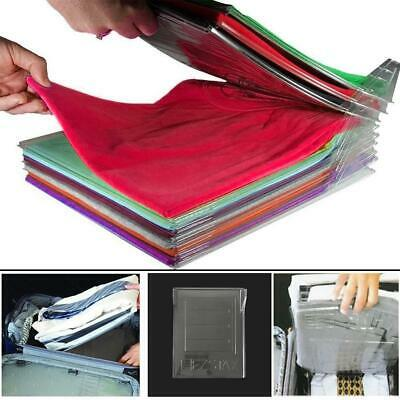 T Shirt Folding Board  Clothes Organiser Folder Easy Fold Laundry Travel Flip UK