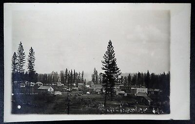Early 1911 View Of Winchester Idaho Rppc Real Photo Postcard