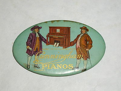 Vintage Advertising Pocket Mirror Celluloid Cunningham Pianos  S-1407