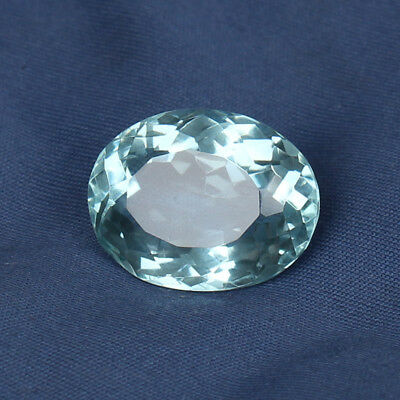 19.45 Ct Natural Aquamarine Greenish Blue Color Oval Cut Loose Certified Gem