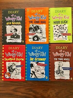 Diary of a Wimpy Kid book bundle hardback 6 books, excellent condition