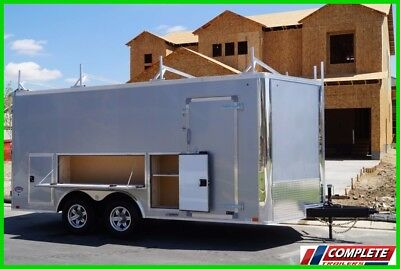 IN STOCK TOOL ACCESS 8.5 X 19 Enclosed V-Nose Cargo Contractor Trailer 10k GVWR