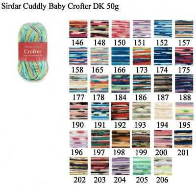Sirdar Snuggly Baby Crofter DK Yarn Acrylic Nylon Double Knitting Wool 50g