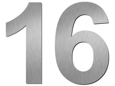 House Number Numbers ARIAL 20cm stainless steel  Sign Letters Address Plaque