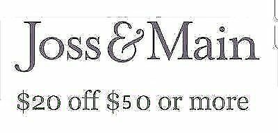 $20 off $50 Joss and Main for new customers  Benefits Charity, Sent fast!