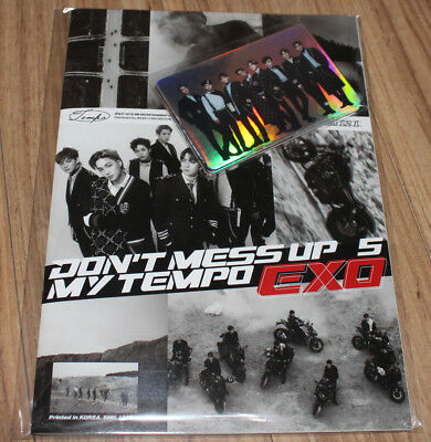 Exo Don't Mess Up My Tempo Smtown Giftshop Goods Hologram Sticker + Book Set