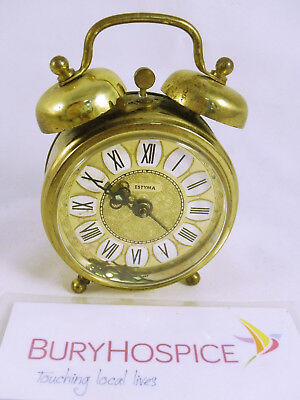 Vintage Mechanical Estyma Twin Bell Alarm Clock (Broken Hand) (WH_5844)