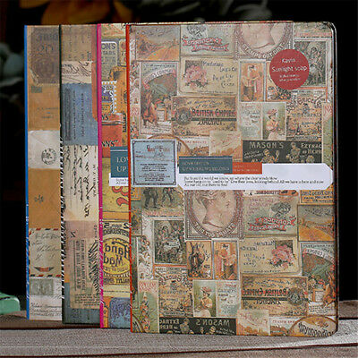 B5 Hard Cover Vintage Journal Notebook Lined Paper Diary Planner Cardboard
