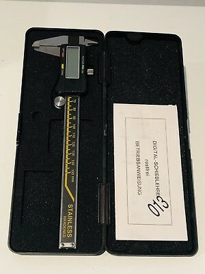 Stainless Hardened Digital Caliper Calibrador Pie De Rey Vintage