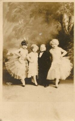 """RPPC - CIRCUS ENTERTAINERS - 4 """" LITTLE """" PEOPLE c. 1925 - 1942"""