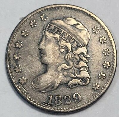 1829 Capped Bust Half Dime VF