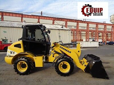 NEW Yanmar V8  Wheel Loader Skid Steer  - Diesel - Enclosed Cab - Forks & Bucket