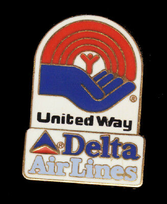 Delta airlines pin United Way pin