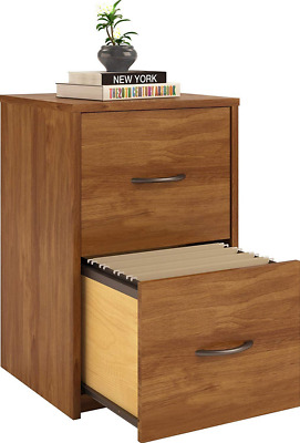 Compact 2 Drawer File Cabinet Home Office Wood Filing Small Space Organizer Box