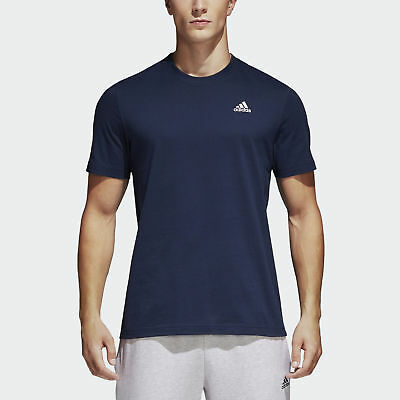 adidas Essentials Base T-Shirt Herren Shirts Blau Kurze Ärmel Freizeit