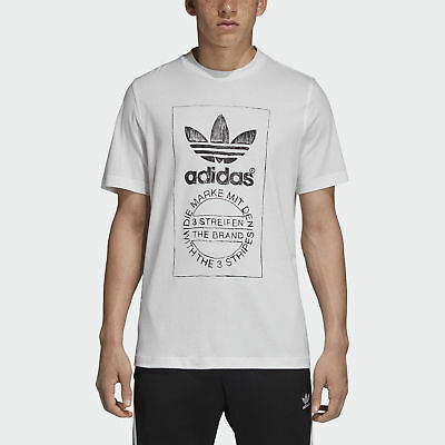 adidas Originals Hand Drawn T-Shirt Herren Shirts Weiß