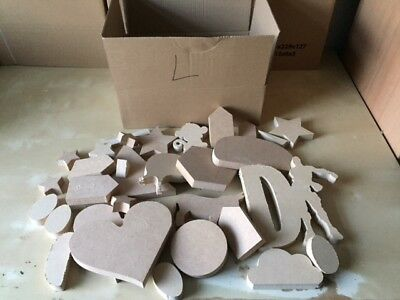 Job Lot of 18mm MDF Craft Offcuts /Scraps and Shapes TO CLEAR - Small/Med/Large
