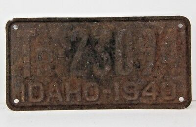 1940 Idaho Trailer License Plate