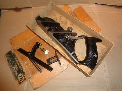 Stanley No.78 Duplex Rabbet Plane - Made In USA - Sweetheart Iron