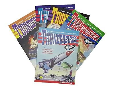 Thunderbirds 5 Books Classic Comics Collection Kids Fun Graphic Novel SF New