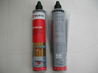 LOT 2 CARTOUCHES MORTIER CHIMIQUE 300mL WURTH