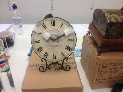 French style Clock on stand maker Chamberlain
