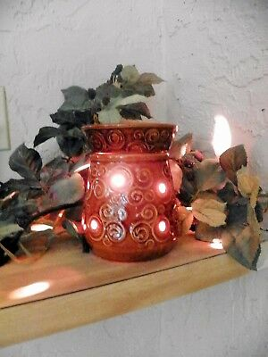 SCENTSY Isabella Collection MERINO Brown Swirl Full Size Warmer DISCONTINUED