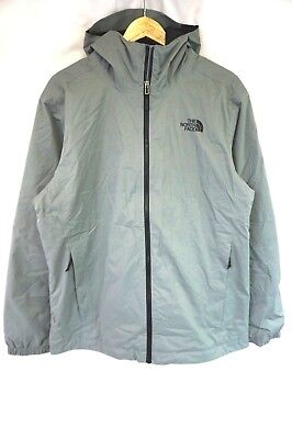NEW THE NORTH FACE Men's Gray Quest Waterproof Insulated Hooded Jacket Large L