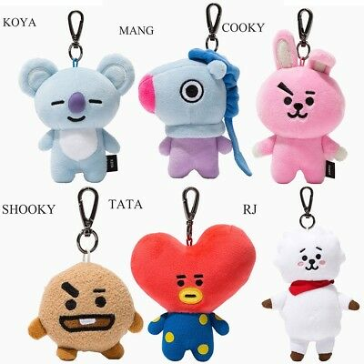 BTS Kpop BT21 Soft Plush Keychain Doll Key Ring CHIMMY COOKY MANG KOYA Stuff Toy