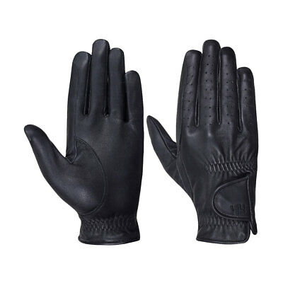 Hy5 Leather Horse Riding Gloves - Adult Black - Extra Small