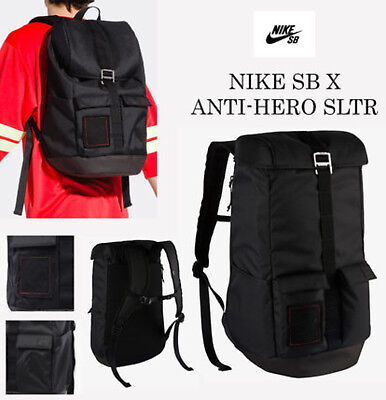 1aba0e325a0b Nike SB x Anti-Hero SLTR Shelter Skateboarding Backpack Black Ltd Ed School  Gym