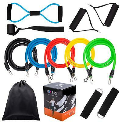 Fitness Resistance Band Set,5Pcs Stackable Latex Workout Pull Bands,8 Type Latex