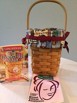 1998 Longaberger BREAST CANCER AWARENESS  Horizon of Hope + Liner & Protector