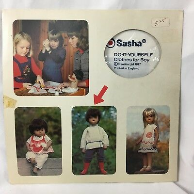 Vtg Sasha Gregor Doll Do it Yourself Clothes for Boy DIY Sewing Trendon England