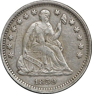 1859-O Seated Liberty Half Dime, VF Details, Minor Surface Problems
