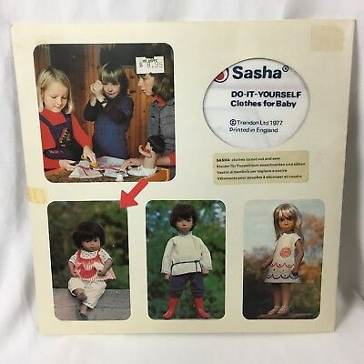 Vtg Sasha Baby Doll Do it Yourself Clothes with Bird DIY Sewing Trendon England