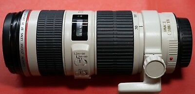 Canon EF 70-200mm f/4 L IS USM Telephoto Lens + Tripod Collar  *Excellent*