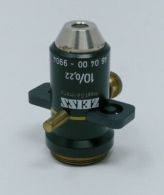 Zeiss Microscope Objective 10x/0.22 with Slider