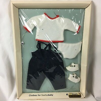Vtg Sasha Baby Doll Original Cord Playsuit Outfit and Shoes Trendon England NRFB