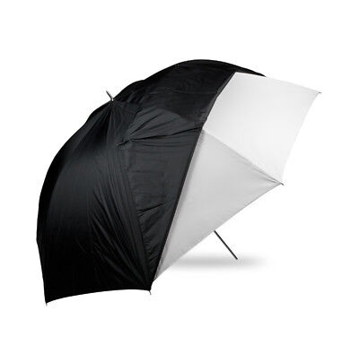 Westcott 60in. Optical White Satin with Removable Black Cover Umbrella
