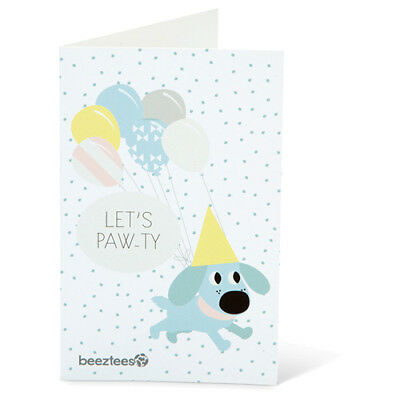 Beeztees Puppy/Puppies Postcard with Envelope Paw, New