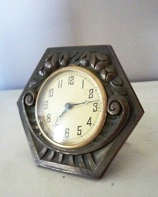 Petite horloge Art Deco  bronze LITTLE FRENCH ANTIQUE CLOCK