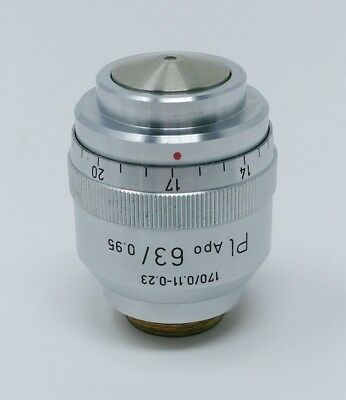 Leitz Microscope Objective Pl Apo PlanApo 63x/0.95 with Correction Collar