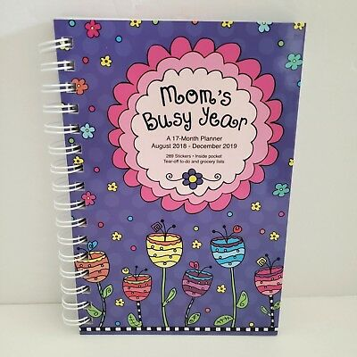2019 Moms Busy Year Weekly Planner Calendar Family Spiral Organizer Stickers