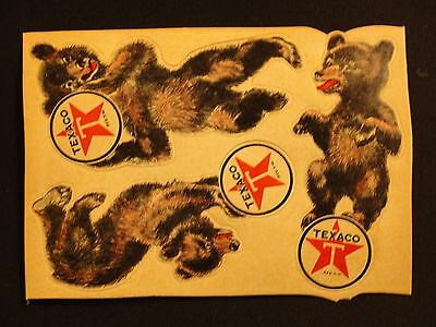 Vtg 1930's Texaco Bear Decals For Insulated Motor Oil Thuban & Marfak