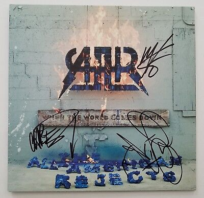 The All American Rejects Signed When World Comes Down Vinyl Record LEGENDS RAD