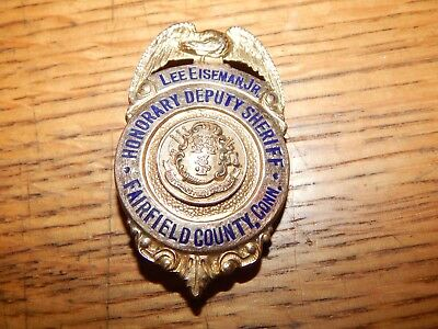 Antique Fairfield County Connecticut Honorary Sheriff  Police Conn Ct