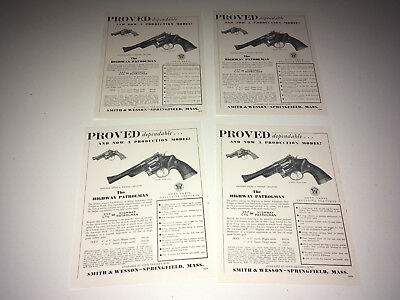SMITH & WESSON 1950s Highway Patrolman 357 Magnum Advertising Sheet Lot Revolver