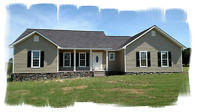 Ranch House Plans 1753 SF 3 Bed 2 Bath Open Floor Split Bedrooms (Blueprints)